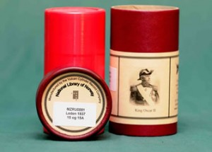 Bespoke phonograph cylinder and box norway library